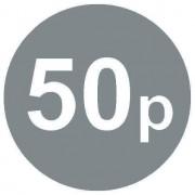 £ Argent Prix Autocollants – 20mm – 50p, 50000