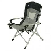 10T Big Boy – Siège de camping en aluminium, dossier haut solide avec assise maxi rembourrée, pliant