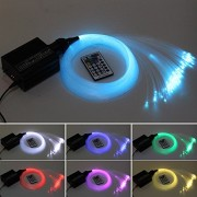 16W RGBW LED Fiber optique Light Star Kit de plafond Lumières 150 pcs 0.75mm 2 m fiber optique éclairage + RF 28key à distance moteur