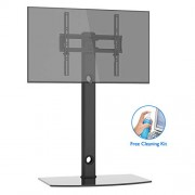 1home Meuble TV avec Support Suspendu Piotant pour Ecran Plasma LCD DE 30 à 55 Pouce 2 Etagères