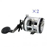 2 Pieces Full Metal Spinning Fishing Reel Fly Fishing Fishing Reels Stainless Steel Bearings High Speed ??Ratio 5.2: 1 One-Click Quick Release System Angel wheel 13BB Full Metal Rocker 9CM × 10CM