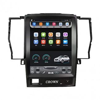 2005-2009 Crown 12 génération 10,4 Pouces Grand écran Tactile Vertical Voiture Android GPS Navigation multimédia vidéo Radio Joueur Bluetooth WiFi