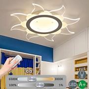 30 W Plafonnier moderne simple paroi Lampe Télécommande dimmbare leuchtung Lampe design Acryl Créatif Cartoon Décoration lumineuse Éclairage enfants Chambre Chambre Éclairage