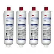 3M CS-52/CS-452 Lot de 4 filtres réfrigérateur internes originaux pour Bosch Neff Siemens 5586605-06
