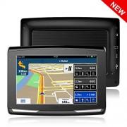 5″ GPS Auto Voiture Moto 8Go, X-EUCO Appareil de Navigation Écran Tactile, Système de Navigation avec Multi-Languages, (Gratuits Cartographie d'europe)