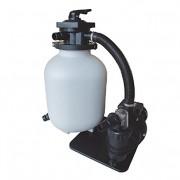 60m³ AQUAFORTE sq460Junior Kit de Filtre à Sable pour Piscine, Pompe 10m³/h, 550W