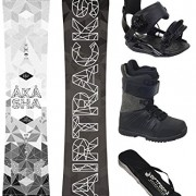 AIRTRACKS SNOWBOARD SET/PACK PLANCHE AKASHA WIDE+FIXATIONS STAR+ CHAUSSURES DE SNOWBOARD+SB SAC/NEUF