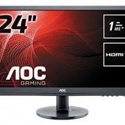 AOC E2460SH Ecran PC LED 24 «(61 cm) 1920 x 1080 1 ms VGA/DVI/HDMI