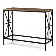 Aingoo Table de Console en Bois Table d'Appoint avec métal Jambes Table d'entrée, Table de Salon pour Entrée/Salon/Chambre/Montage Facile