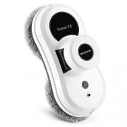 Alfawise S60 Robot Nettoyeur de Vitre Electrique Blanc – Robot Vitres Automatique du Système UPS Anti-chute avec Corde de Sécurité ou Lot de 12 Lingettes