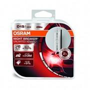 Ampoule Xénon OSRAM XENARC NIGHT BREAKER UNLIMITED D1S HID Lampe à décharge, 66140XNB-HCB, boîte duo (2 pièces)