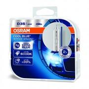 Ampoule xénon OSRAM XENARC COOL BLUE INTENSE D3S HID lampe à décharge, 66340CBI-HCB, boite duo (2 pièces)