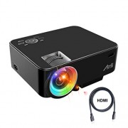 Artlii Retroprojecteur, Videoprojecteur Portable LED Soutien HD 1080p HDMI USB VGA AV SD,Projecteur de Cinéma Maison