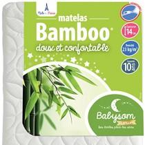 Babysom – Matelas Bébé Bamboo – Epaisseur 14cm – Déhoussable – Sans Traitement Chimique – Garantie 10ans