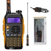 Baofeng Pofung GT-3TP Tri-Power 8/4 / 1W Two-Way Radio Transceiver Talkie Walkie, Dual Band Radio Vrai 8W Haute Puissance Radio Bidirectionnelle, Avec 23CM Antenne à Gain Elevé, Chip Mis à Niveau