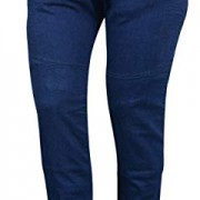 Bikers Gear Australia Limited pour femme stretch avec doublure en Kevlar pour moto de protection Jeans avec amovible CE Armour, Bleu, Taille 18