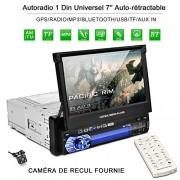 CATUO Bluetooth AUTORADIO 1 DIN with 2 DIN