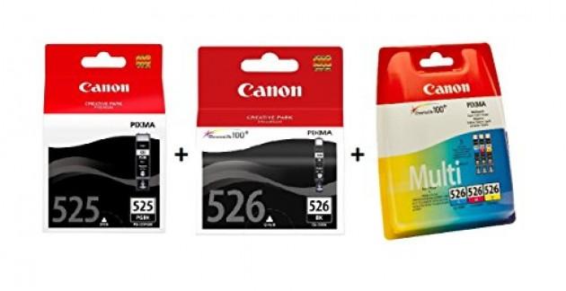 Canon Cartouche d'encre d'origine multipack PGI525 et CLI526 Noir, Cyan, Magenta, Jaune