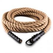 Capital Sports Power Rope – Corde Cross-Training de Musculation/Fitness avec Crochets (Corde de Chanvre)