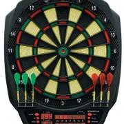 Carromco Electronic Dartboard Striker-401 Cible de fléchette Mixte Adulte, Noir/Vert/Rouge/Jaune, Standard