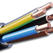 Câble haute tension d'alimentation enterré nYY-j 5 x 2,5 mm² 25 m câble en plastique noir
