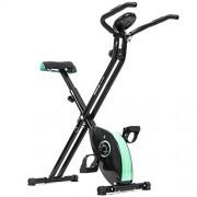 Cecotec Xbike Vélo d'appartement Pliable magnétique Doté d'un cardiofréquencemètre/d'un écran LCD/d'une résistance Variable/de pédales avec Maintien Maximal/d'une Selle Confortable