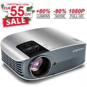 Crenova Vidéoprojecteur Full HD, Rétroprojecteur 3500 Lumens, Supporte Le 1080p, Compatible Clé USB, iPhone, PC, Laptop Regarder Football, NBA, Roland Garros