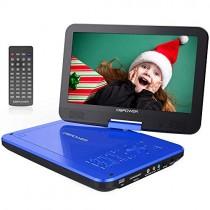 DBPOWER Lecteur DVD Portable, Pile Rechargeable de 5 Heures, avec écran orientable, compatibilité Carte SD et Interface USB, lit Directement Les formats AVI, RMVB, MP3 et JPEG