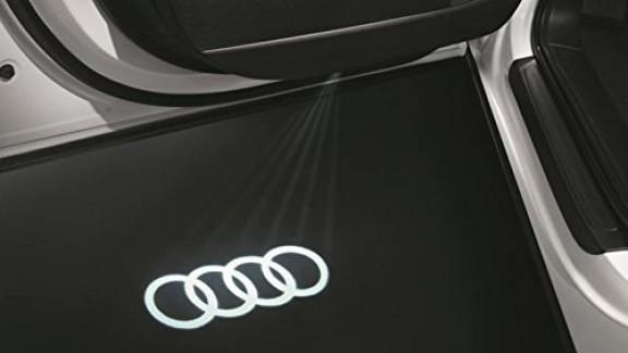 Entrée LED origine Audi Audi Anneaux Inscription Logo Porte Éclairage 4g0052133g