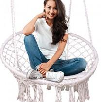 Feiren Extérieure hamac Chaise intérieure Salon Suspendus chaises Macrame balançoire hamac Chaise en rotin/Style Boho/Chaise pivotante pour Chambre