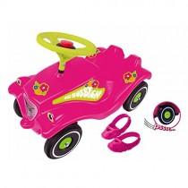 Flower Power Big Toy Factory 800056103Big Bobby Car Pneus avec coussinets à chaussures et silencieux
