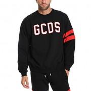 GCDS Homme Cc94u02002902 Noir Coton Sweatshirt