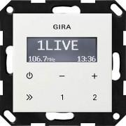 Gira 228403 Radio encastrable sans haute-parleur ST55 Blanc brillant