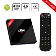 H96 Pro Plus Android 7.1 TV Box with 3GB RAM Amlogic S912 64 bit Octo-Core CPU,4K Ultra HD Smart TV Box Support 2.4GHz/5GHz Dual Band WiFi 1000M LAN H.265 Decode 3D Bluetooth 4.1