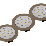 Hera R68 de Ho LED encastrable Lot de 3 Aspect acier inoxydable Blanc chaud 61054913802