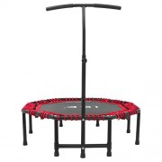 ISE Trampoline de Fitness Pliable Trampoline de Gym 118cm Poignée réglable 116-132cm SY-TGB
