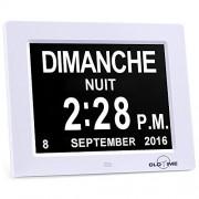 KSD- 8″ LCD Horloge Numérique Calendrier avec Date, Horloge Calendrier avec Date, Jour et Heure | Horloge Alzheimer | Horloge pour Les Seniors,C'est pour Les Parents