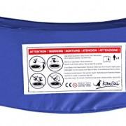 Kangui – Coussin de Protection pour Trampoline de Ø 245-305 – 360-430cm Bleu