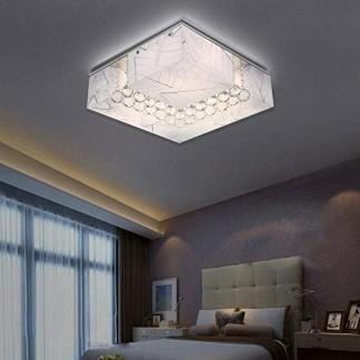 LED Cristal Plafonniers Moderne Acrylique Modèle de feuille Carré Luminaires intérieur Pour Chambre Salon Cuisine Eclairage