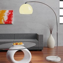 Lampe à arc Design avec socle en marbre – 146-220cm réglable ajustable salon