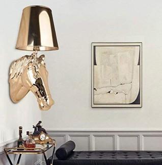 Lampe murale de style européen / résine / tissu LED Cheval / Applique / Moderne Simple E27 1 Lumière 40W Lampe à chandelier / escalier Lampe murale de balcon / sélection multicolore pour salle de séjour Restaurant Wa , gold