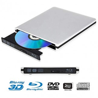 Lecteur DVD Blu Ray 4K 3D Externe Portable Ultra Slim USB 3.0 Graveur de DVD CD-RW pour Mac OS, Linux, PC Windows XP/Vista / 7/8/10