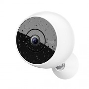 Logitech Circle 2 – Caméra de Surveillance Wifi Intérieur/Extérieur, Résistante aux Intempéries (Vision Nocturne, Détection de Personnes, Enregistrement sur 24 Heures)