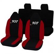 Lupex Shop 107_b.r Housses de Siège, Rouge Noir