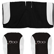 Lupex Shop – 500_N.Bi – Housses de sièges Auto Bicolores – Noir/Blanc