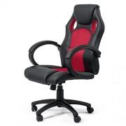 MY SIT Chaise de bureau Siége de bureau Fauteuil Réglable Racing Gaming Sport Red avec Accoudoir