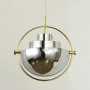 Metal Semicircle Pendentif Light Post Modern Rotate Shade Chromé Chandelier couleur Lampe pour la chambre/Salon/Cantine/Bar/Entrée Décorer l'éclairage