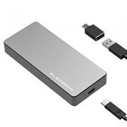 NVMe PCIe M.2 SSD vers USB 3.1 Gen2 Boîtier Externe de Adaptateur – ElecGear 10Gbps Aluminium Dissipateur Adapter pour Disque Dur de 2280 PCI-E Gen3 M2 M-Key NGFF SSD, USB Type C convertisseur Case