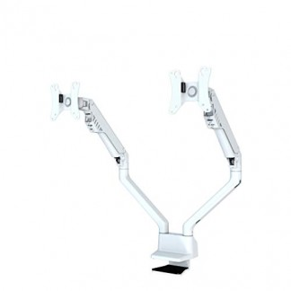 Newstar FPMA-D750DWHITE Support d'écran Plat pour Bureau 81,3 cm (32″) Pince Blanc – Supports d'écrans Plats pour Bureau (Pince, 16 kg, 25,4 cm (10″), 81,3 cm (32″), 100 x 100 mm, Blanc)