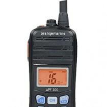 ORANGEMARINE WPF 300 Radio VHF portable étanche et flottante – Noir/Orange